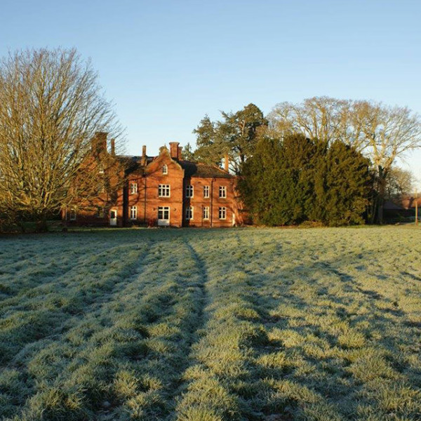 Bessingham Manor in winter sun.