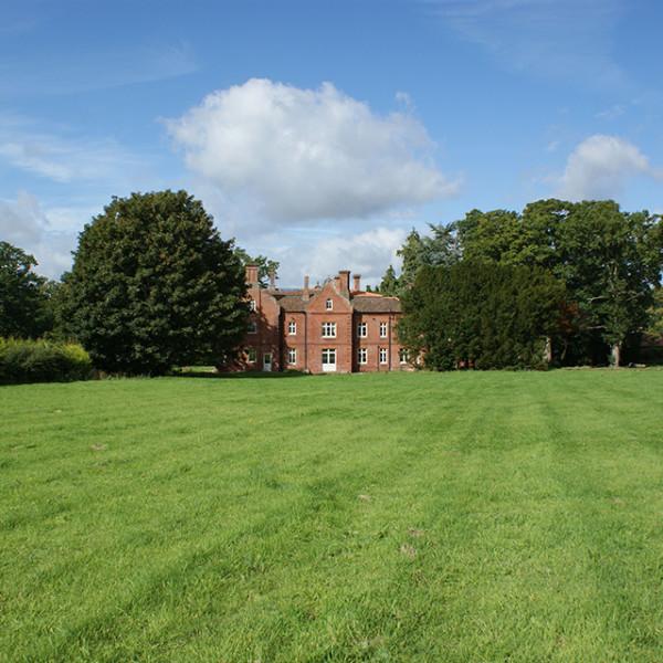 Outside Bessingham Manor.