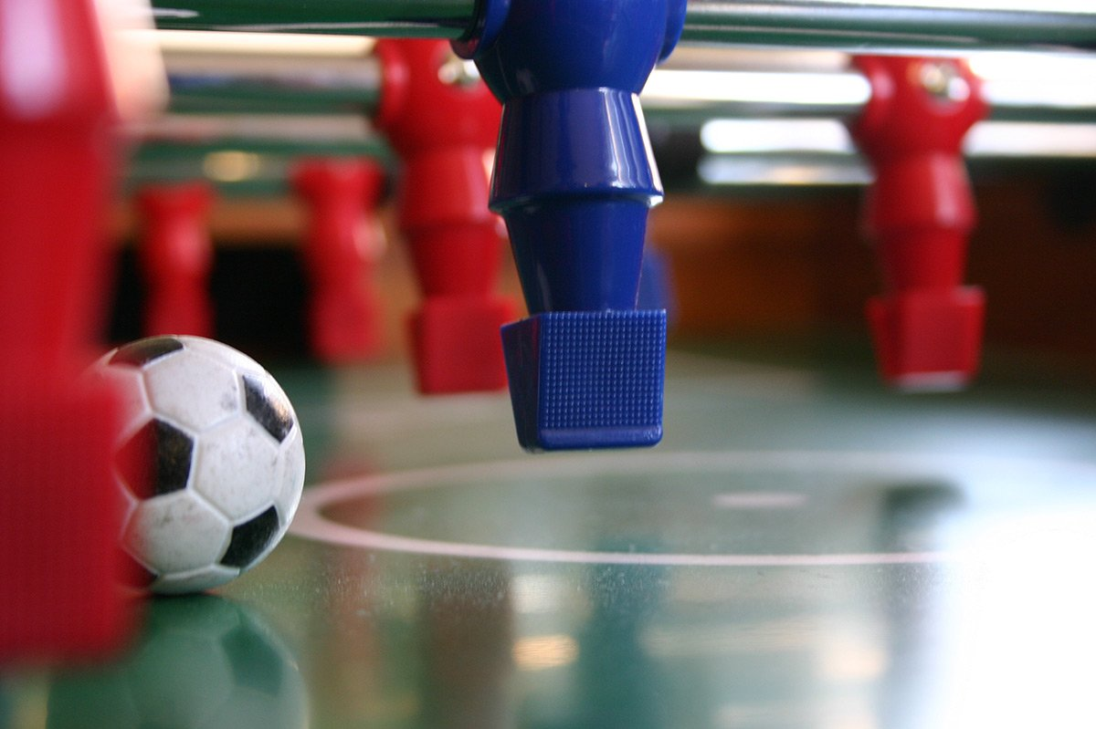 Table Football in The Games Room at Bessingham Manor.
