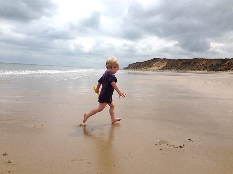West Runton beach on the Norfolk Coast. Image: Pollywiggle.