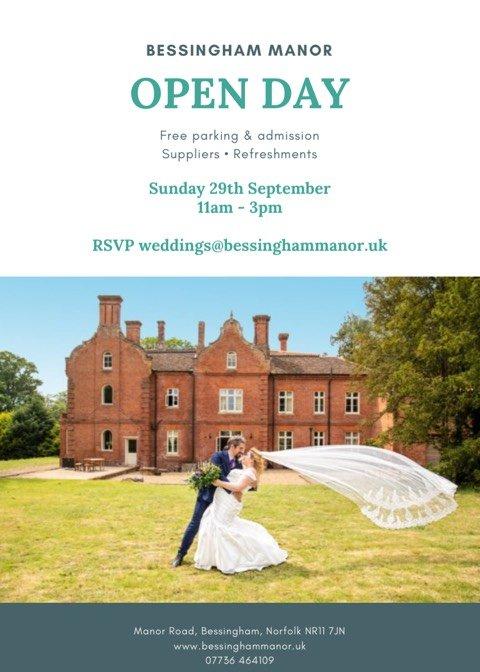 Bessingham Manor Wedding Open Day.
